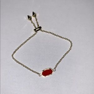 Kendra Scott Adjustable Chain in gold, with Ruby